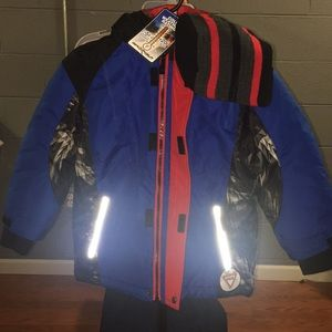 brand new blue with back jacket
